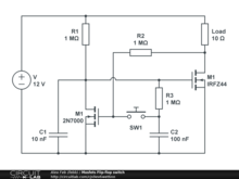 Mosfets Flip-flop switch