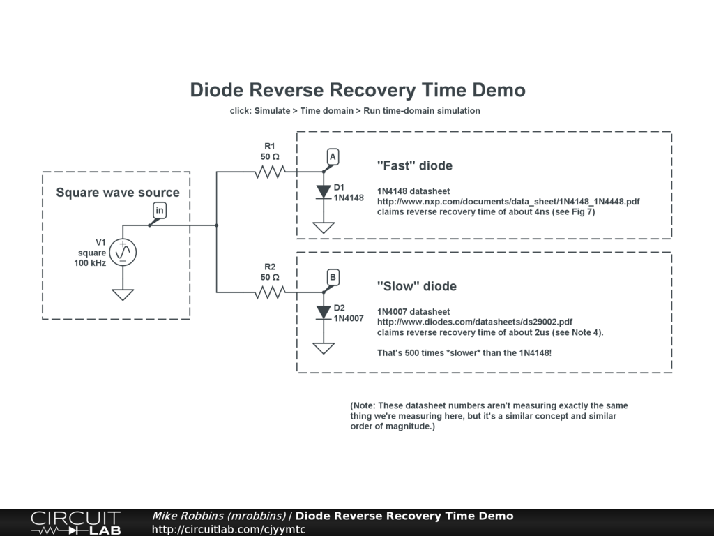 Diode Reverse Recovery Time Demo Circuitlab P N Junction Circuit Diagram