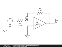Basic inverting amplifier