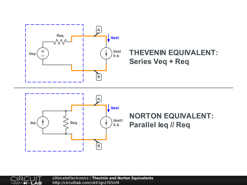 Thevenin Equivalent And Norton Circuits Ultimate Electronic Circuit Design Java For