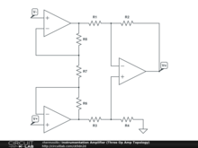 Instrumentation Amplifier (Three Op Amp Topology)
