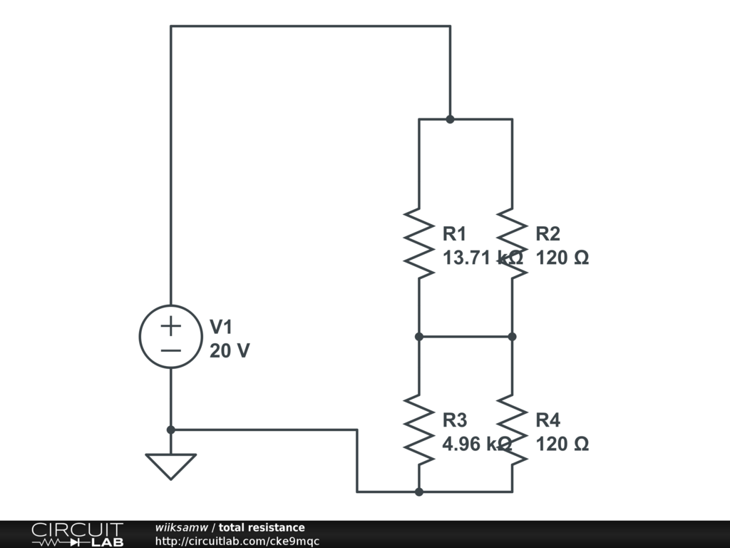 Total Resistance Circuitlab What Is The In Circuit