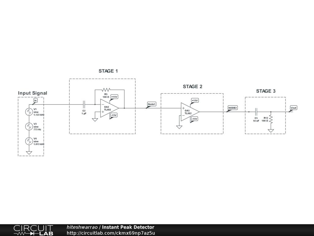 Peak Detector Circuit Diagram   Instant Peak Detector Circuitlab