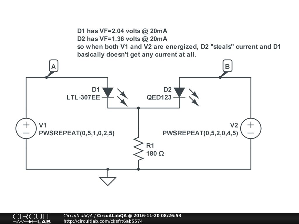 Tri Color Rgb Led Share 1 Resistor Or Use 3 Electronics Qa Circuit New Driver D1