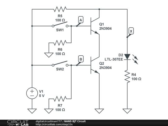 nand bjt circuit