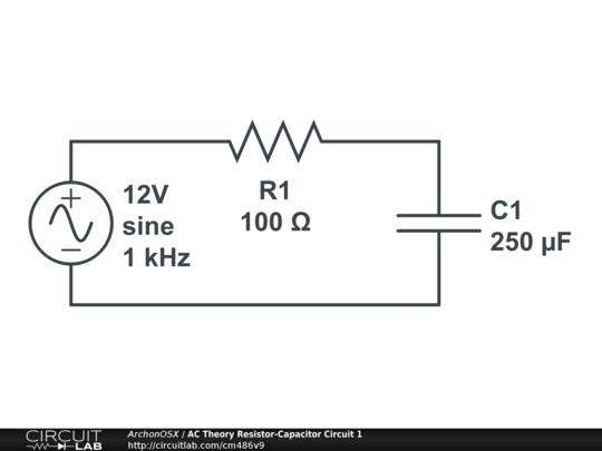 ac theory resistor-capacitor circuit 1