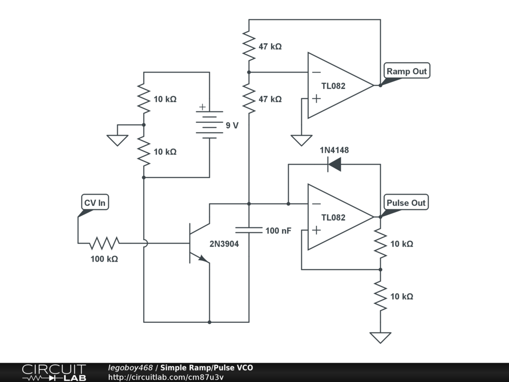 Simple Audio Circuit Ramp Pulse Vco Circuitlab