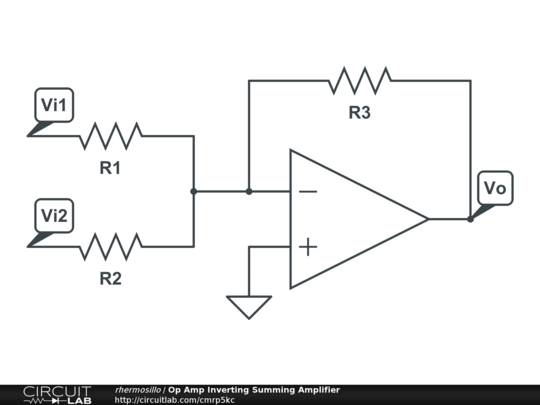op amp inverting summing amplifier