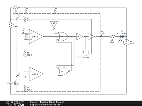 Awesome Dummy Alarm Project Circuitlab Wiring Database Scataclesi4X4Andersnl