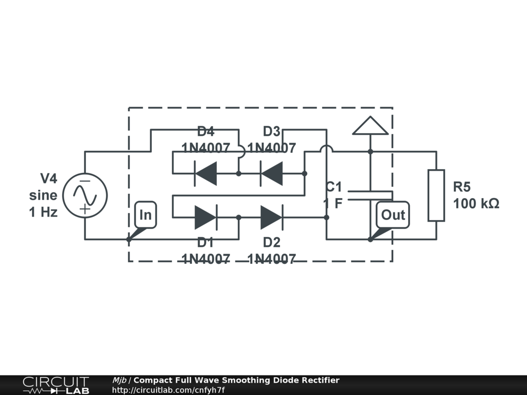 Circuit Diagram Rectifier Compact Full Wave Smoothing Diode Circuitlab