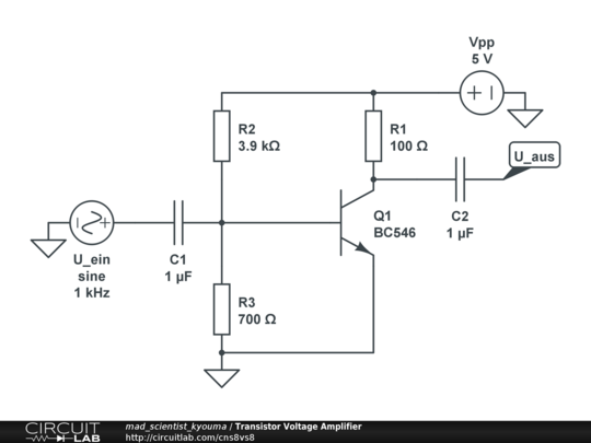 transistor voltage amplifier