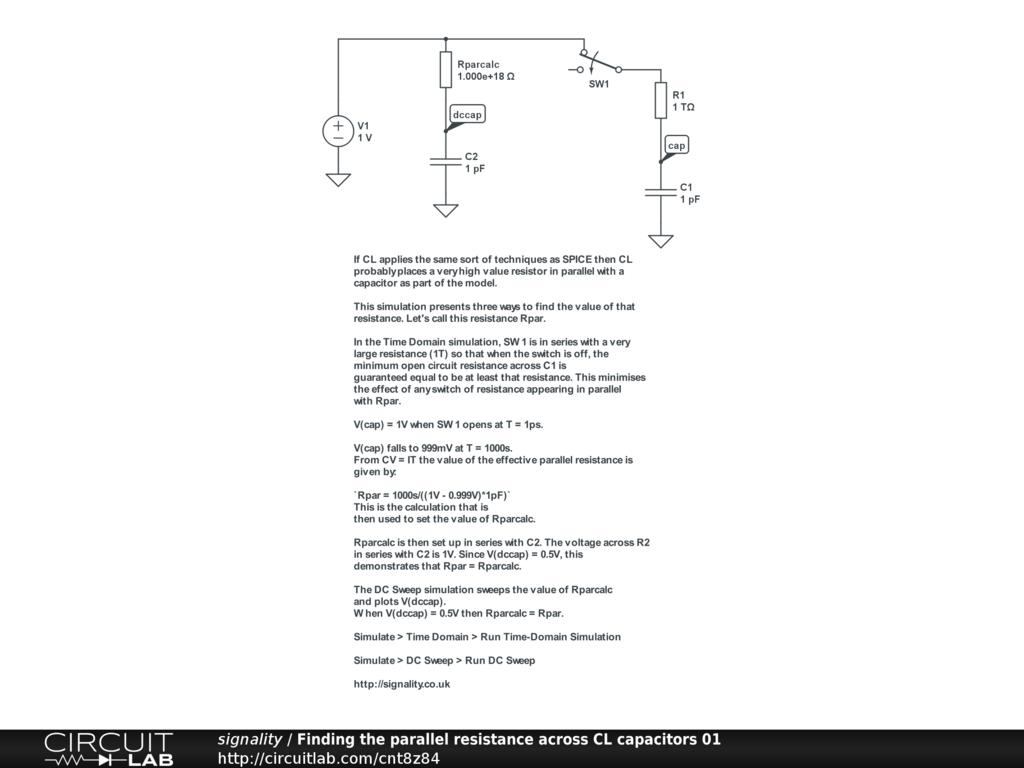 Parallel Resistance Circuit