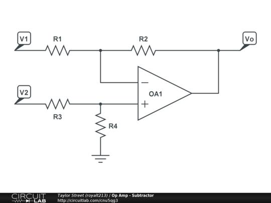 op amp - subtractor