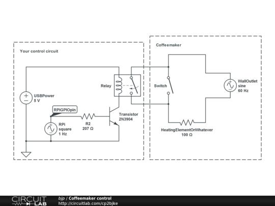 Coffee Maker Circuit Diagram : Coffeemaker control - CircuitLab