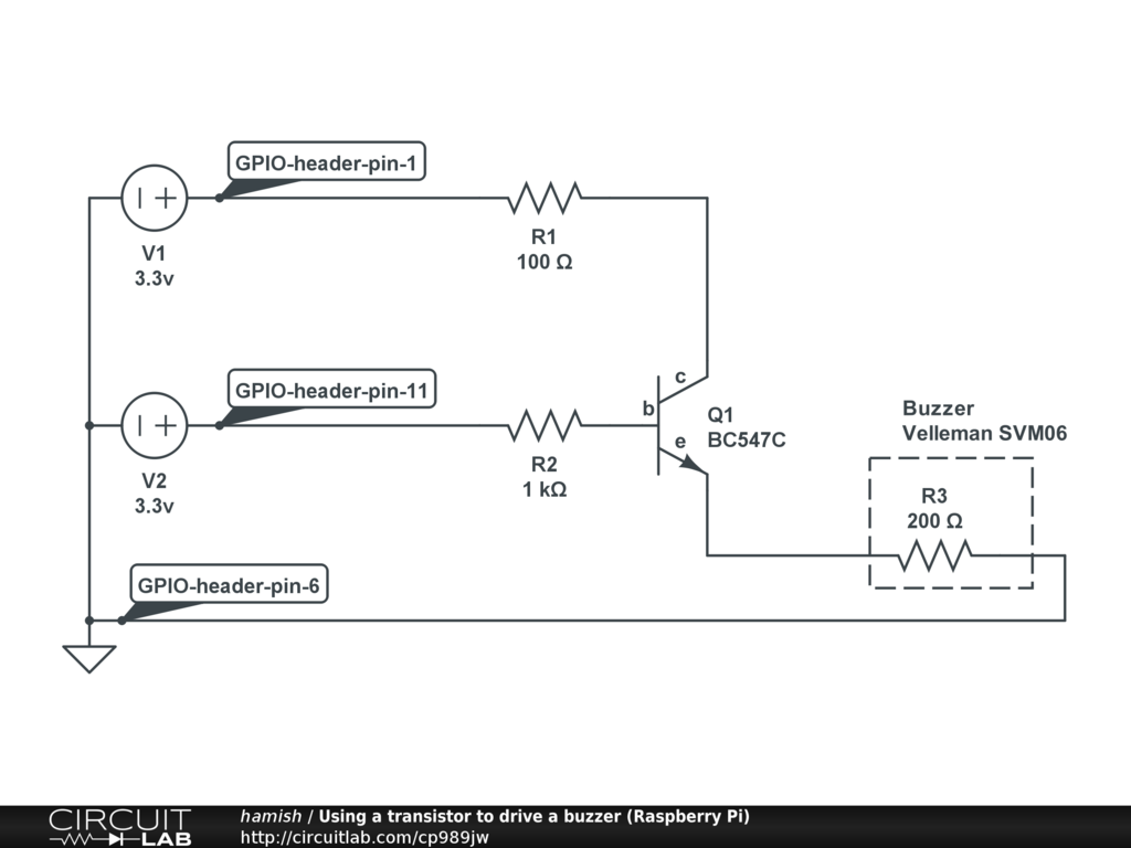 Public Circuits Tagged Raspberry Pi Circuitlab Zener Transistor Regulator Using A To Drive Buzzer