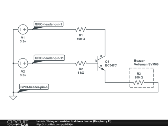 how to make a buzzer circuit with transistors