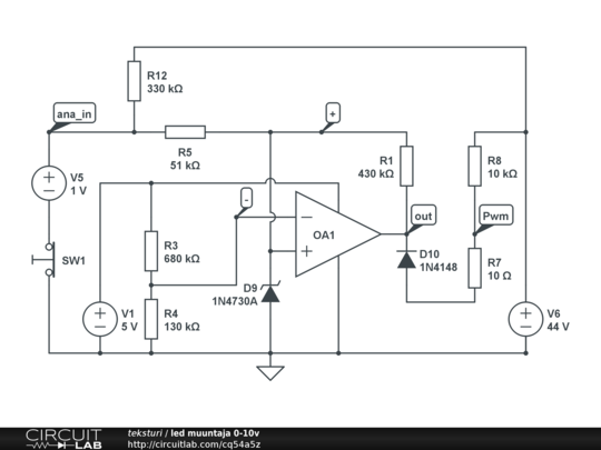 Led Muuntaja 0 10v Circuitlab