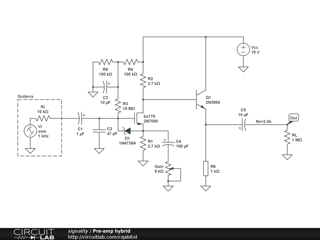 Using A Baxandall Tone Stack After High Output Impedance Stage Control Circuit For Guitar Amplifier 741 I