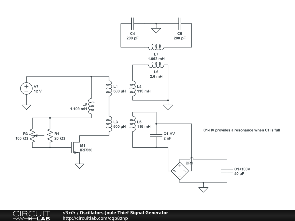 Aether Vortex Energy Converter Avec Device Full Disclosure Circuitlab Laser Diode Driver Circuitlabcom Circuit Qb8znp Oscillators Joule Thief Signal Generator