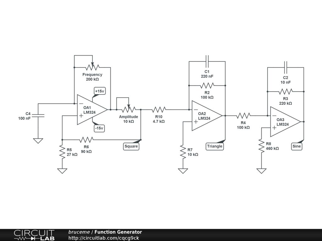 Function Generator Circuitlab