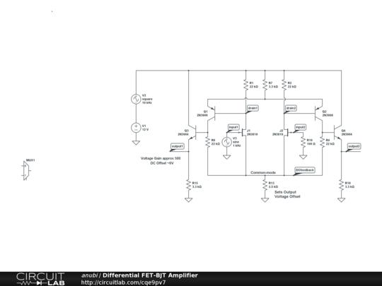 differential fet-bjt amplifier