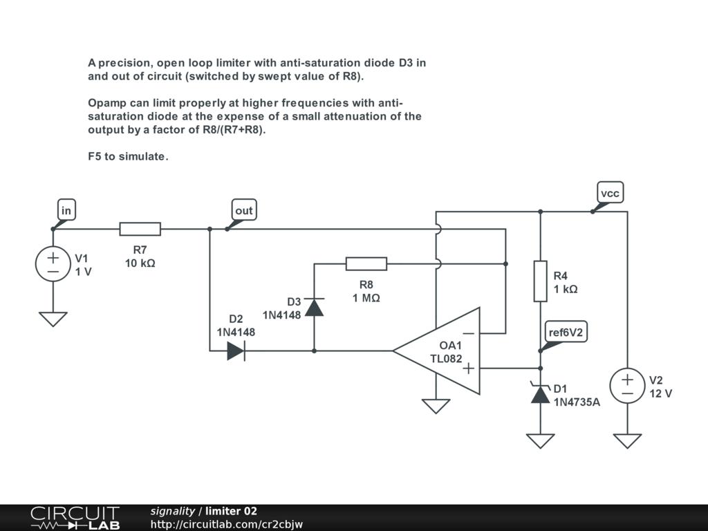Voltage Limiter Circuit Diagram Electrical Wiring Diagrams Audio Power Booster Tradeoficcom Analog Design Circuitlab Car Regulator