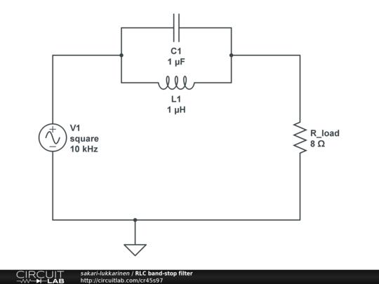 rlc band-stop filter