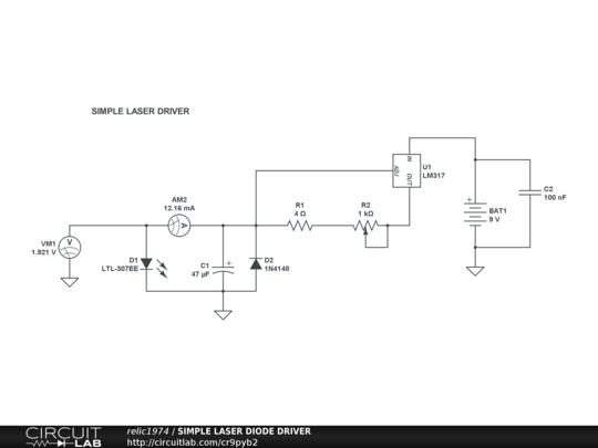 simple laser diode driver circuitlab