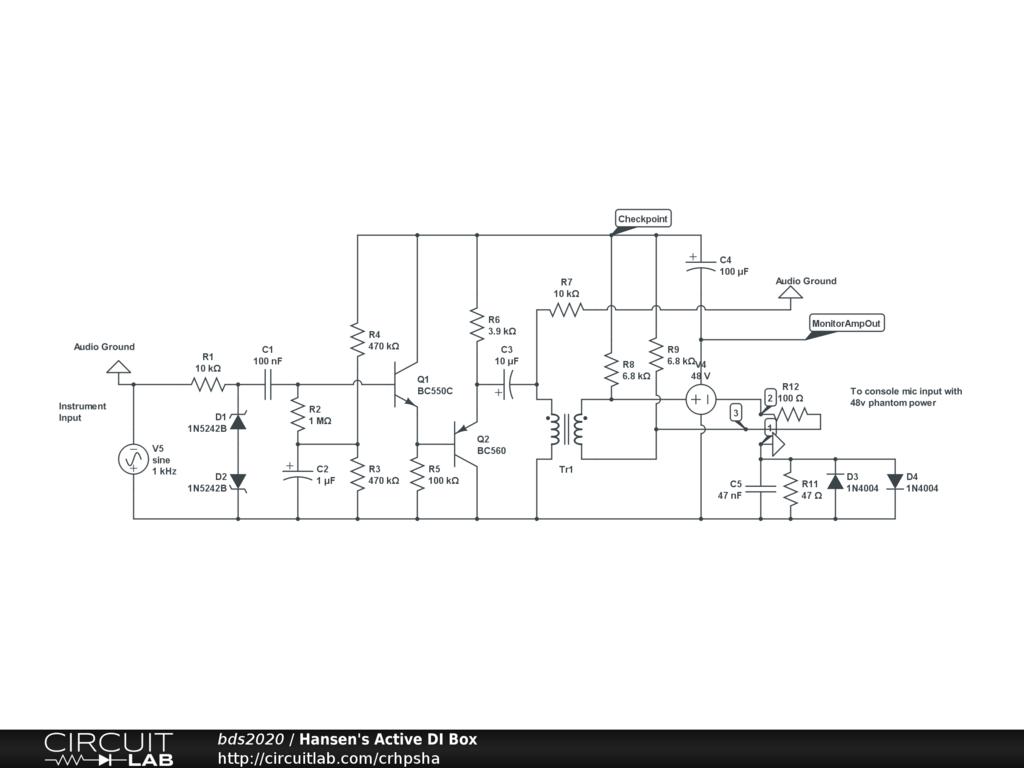 Hansens active di box circuitlab circuit buycottarizona Image collections