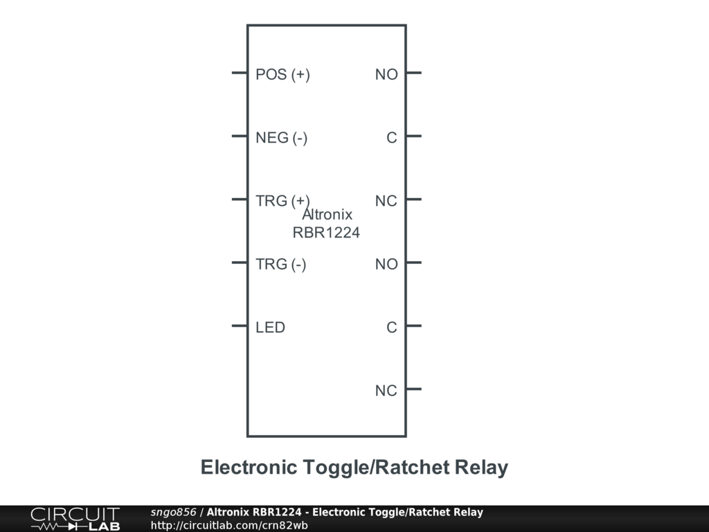 Altronix Rbr1224 Electronic Toggle Ratchet Relay Circuitlab Relays Wiring Diagrams Circuit