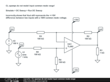 CL opamps do not model input common mode range
