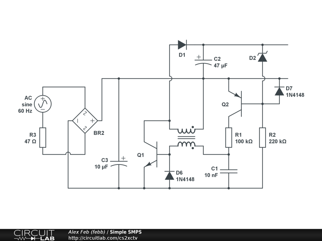 Simple Smps Circuitlab Public Circuits Tagged Quotconstantcurrentquot Circuit