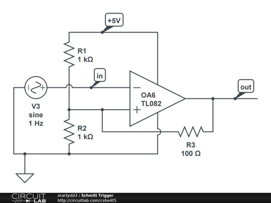 schmitt trigger circuitlab. Black Bedroom Furniture Sets. Home Design Ideas