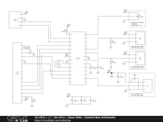 Schematic for the sous vide controller