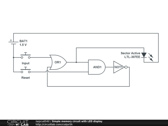 simple memory circuit with led display circuitlab rh circuitlab com memory schematic memory schemas