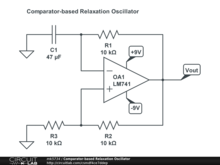 Comparator-based Relaxation Oscillator