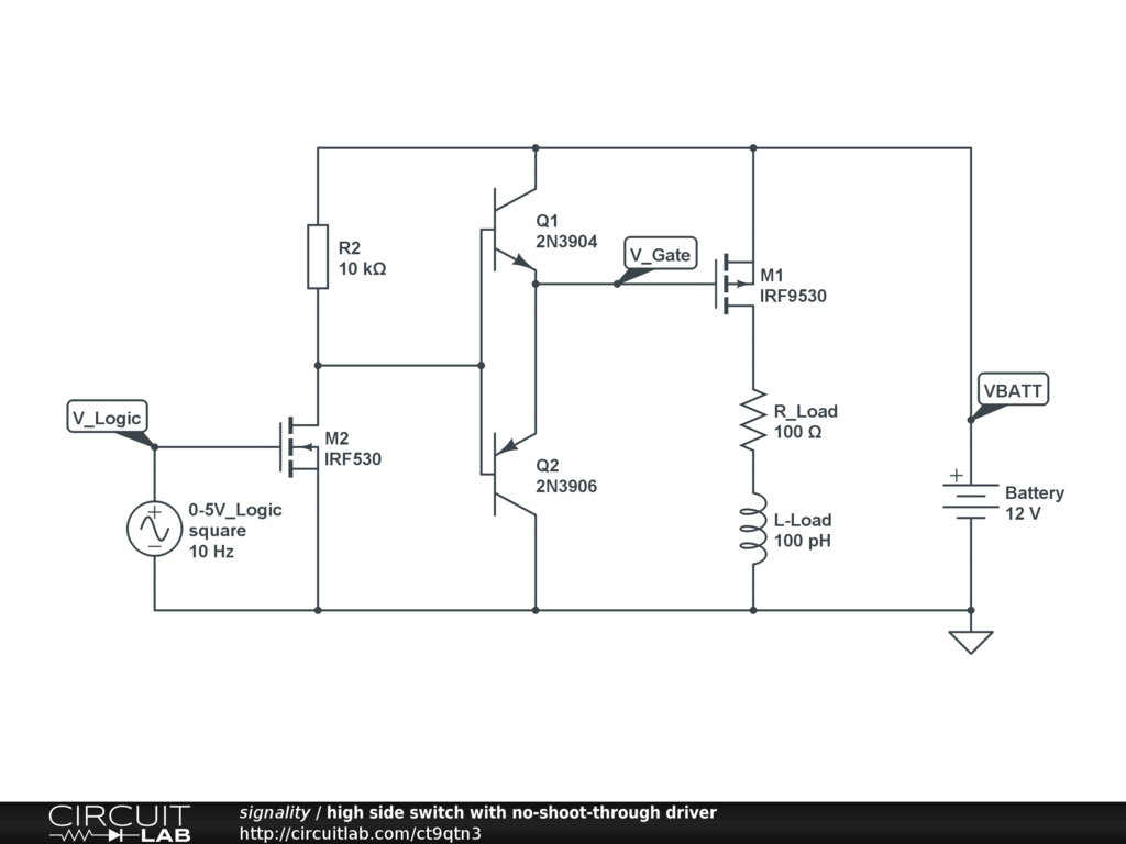 Control 2 Amps Of 12 Volts With A Digital Signal Power Electronics Mosfet Switching Short Circuit Protection Need Help Avatar For Signality