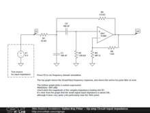 Sallen-Key Filter -- Op-amp Circuit Input Impedance