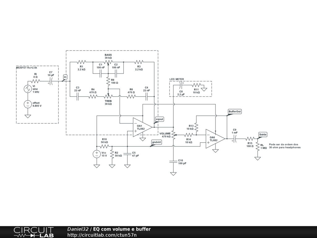 Using A Baxandall Tone Stack After High Output Impedance Stage How To Build Op Amp Booster Designs Pdf There