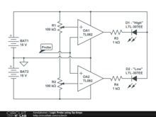 Logic Probe using Op-Amps