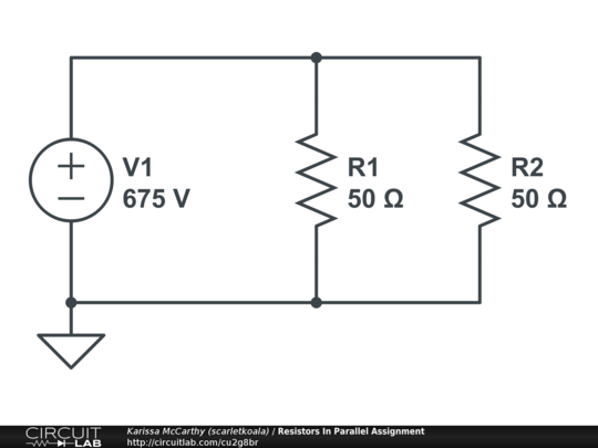 resistors in parallel assignment