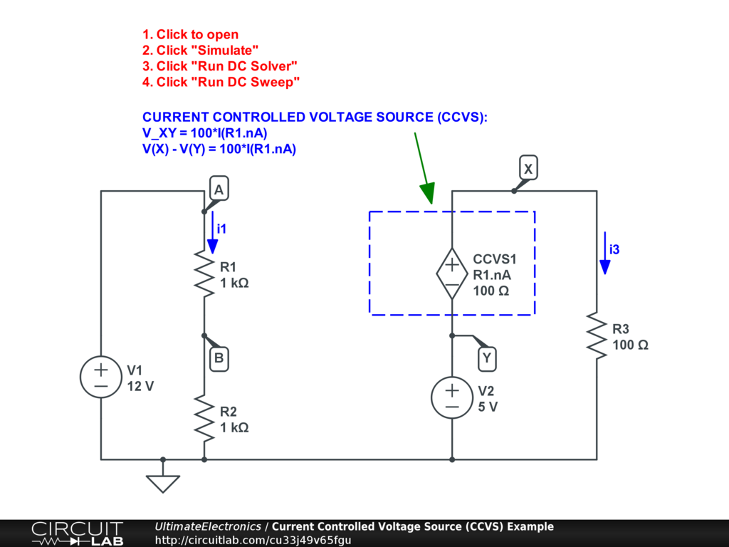 Dependent Controlled Sources Ultimate Electronics Book Circuit Wizard Electronic Simulator Latest Version Circuits Interactive Exercise Click The