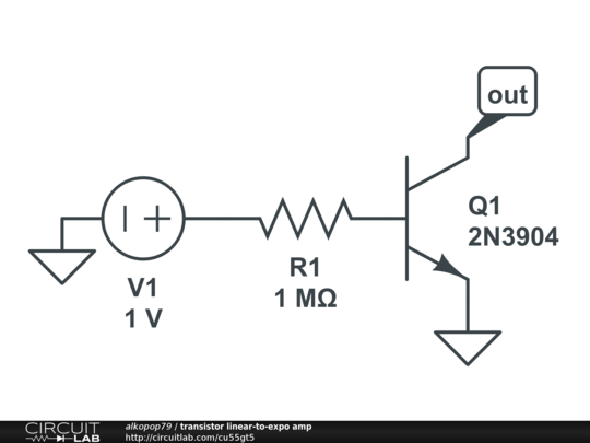 transistor linear-to-expo amp