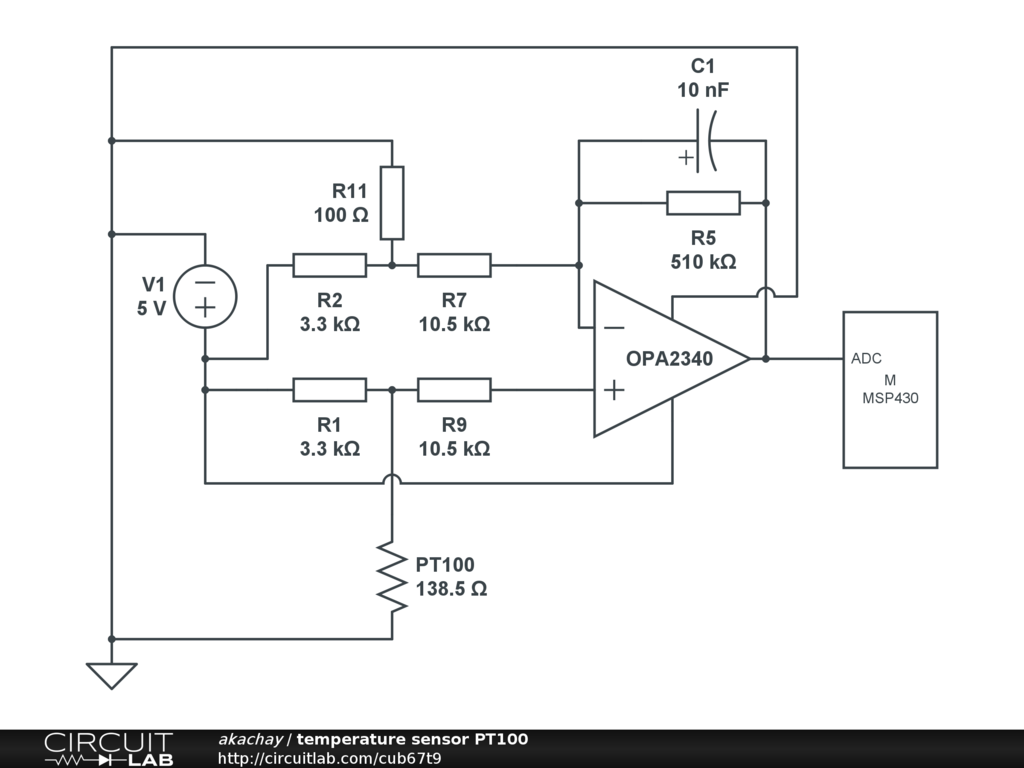 temperature sensor pt100 circuitlab rh circuitlab com pt100 schematic diagram pt100 wiring diagram