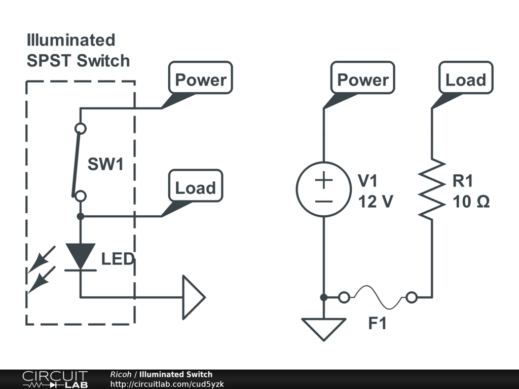 240v Illuminated Rocker Switch Wiring Diagram