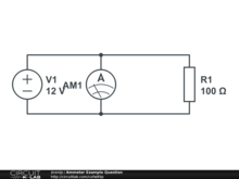 Ammeter Example Question