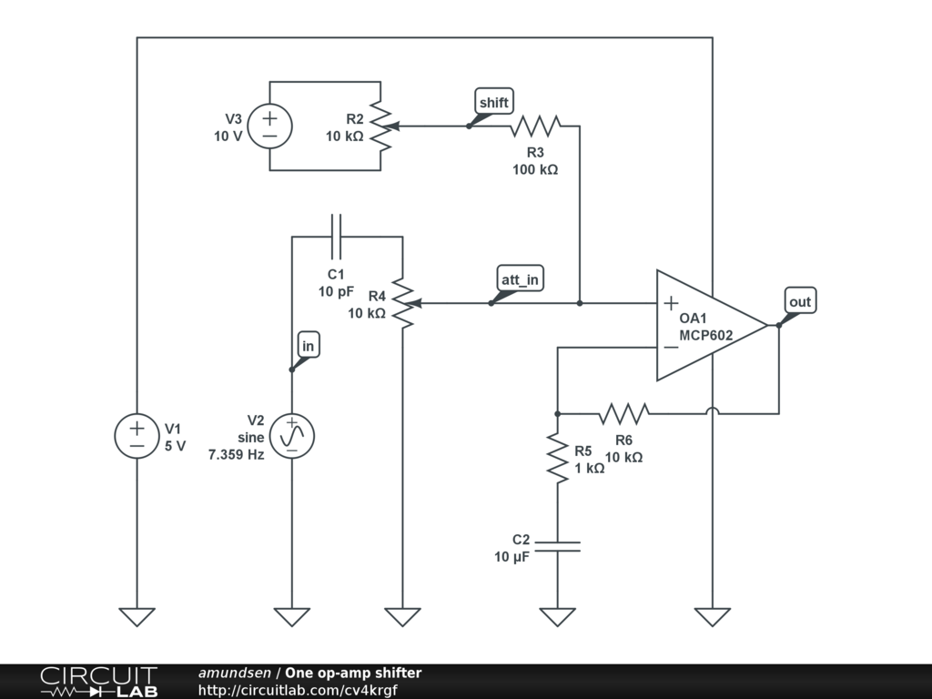 Is This A Dual Power Supply On The Schematics I Want To Model Circuit Diagramscircuitlab Online Schematic Editor Thank