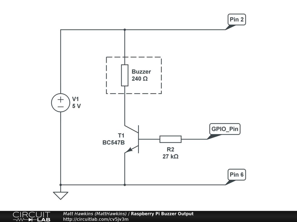 Raspberry Pi Buzzer Output Circuitlab 555 Internal Diagram Circuit