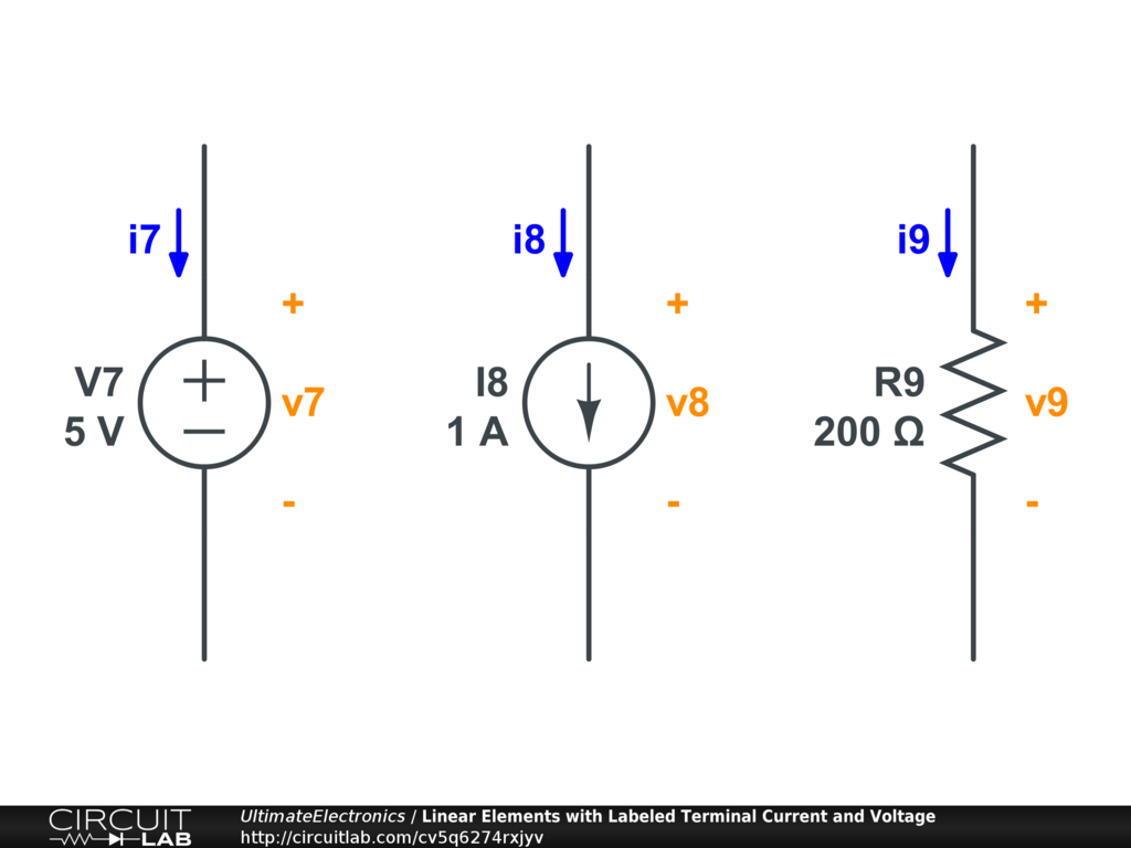 labeling voltages  currents  and nodes