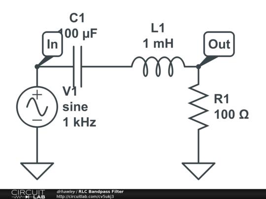 rlc bandpass filter